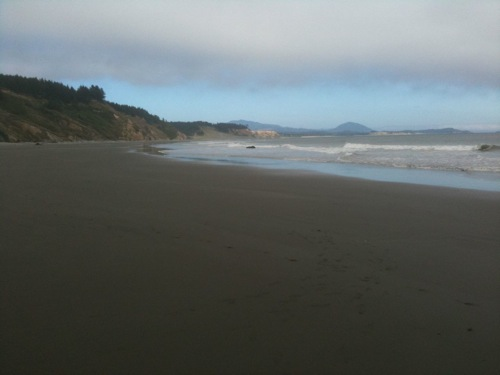 Beach in Southern Oregon.  No one in sight.